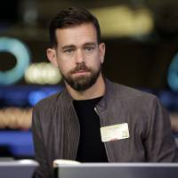 Twitter CEO Jack Dorsey is interviewed on the floor of the New York Stock Exchange in 2015. Dorsey says the company isn't biased against Republicans or Democrats and is working on ways to ensure that debate is healthier on its platform. | AP