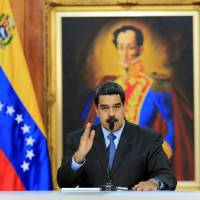 Venezuelan President Nicolas Maduro speaks during a meeting with government officials at the Miraflores Palace in Caracas Aug. 7. | MIRAFLORES PALACE / HANDOUT / VIA REUTERS