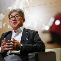 Kozo Takaoka, chief executive officer of Nestle Japan, speaks during an interview in Tokyo on Aug. 22. | BLOOMBERG