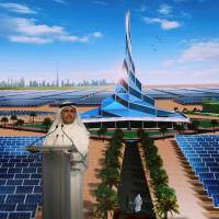 Saeed Al Tayer, chief executive officer of Dubai Electricity and Water Authority (DEWA), speaks during the groundbreaking ceremony of the fourth phase of the Mohammed bin Rashid Al Maktoum Solar Park, south of Dubai, United Arab Emirates, in March. | REUTERS