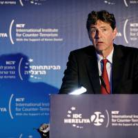 Arndt von Loringhoven, NATO assistant secretary-general for intelligence and security, speaks at the World Summit on Counter-Terrorism in Herzliya, Israel, Tuesday. | REUTERS
