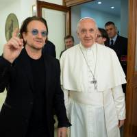 U2's Bono saw 'pain' on pope's face over clergy sex abuse scandals