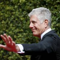 Chef Anthony Bourdain poses at the Creative Arts Emmy Awards in Los Angeles in September 2015. | REUTERS