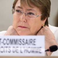 China tells U.N. rights chief to respect its sovereignty after Xinjiang comments