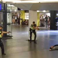 Dutch police grill suspect in stabbings of two Americans in alleged terrorist attack at station