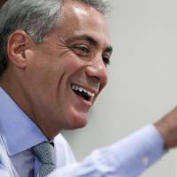 Chicago Mayor Rahm Emanuel speaks during an interview at his office in Chicago on Aug. 9, 2011. | AP