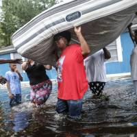 Eight days after Hurricane Florence, floodwaters still rising in Carolinas