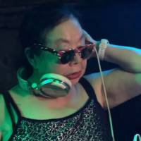 DJ Sumirock plays a set at a club in Tokyo in May 2017. | KYODO NEWS PLUS
