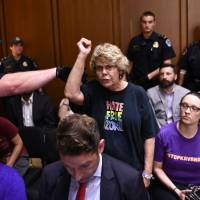 Chaos marks start of Brett Kavanaugh confirmation hearing in U.S. Senate