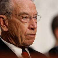 U.S. Sen. Chuck Grassley (R-IA) listens during U.S. Supreme Court nominee Judge Brett Kavanaugh's U.S. Senate Judiciary Committee confirmation hearing on Capitol Hill in Washington Tuesday. | REUTERS