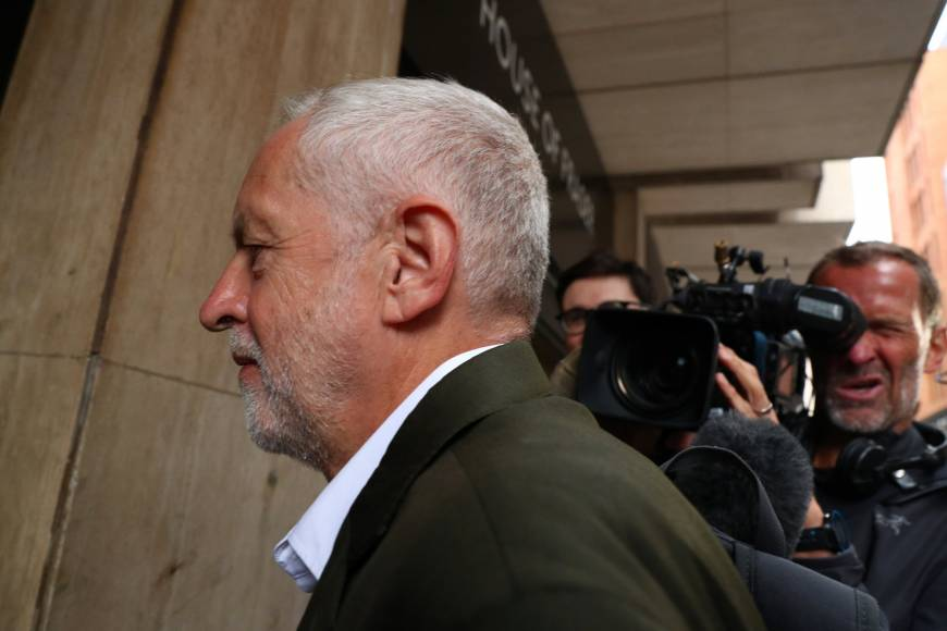 Trying to defuse criticism of leader Jeremy Corbyn, Britain's Labour Party defines anti-Semitism