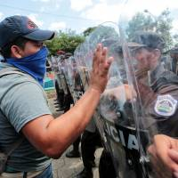 Thousands stage anti-Ortega protest in Managua, demand release of hundreds