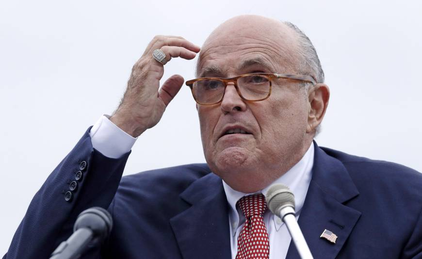 Rudy Giuliani to AP: Trump will not answer obstruction questions