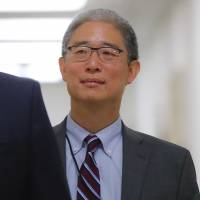Justice Department official Bruce Ohr arrives for a closed hearing of the House Judiciary and House Oversight committees on Capitol Hill in Washington on Tuesday. | AP