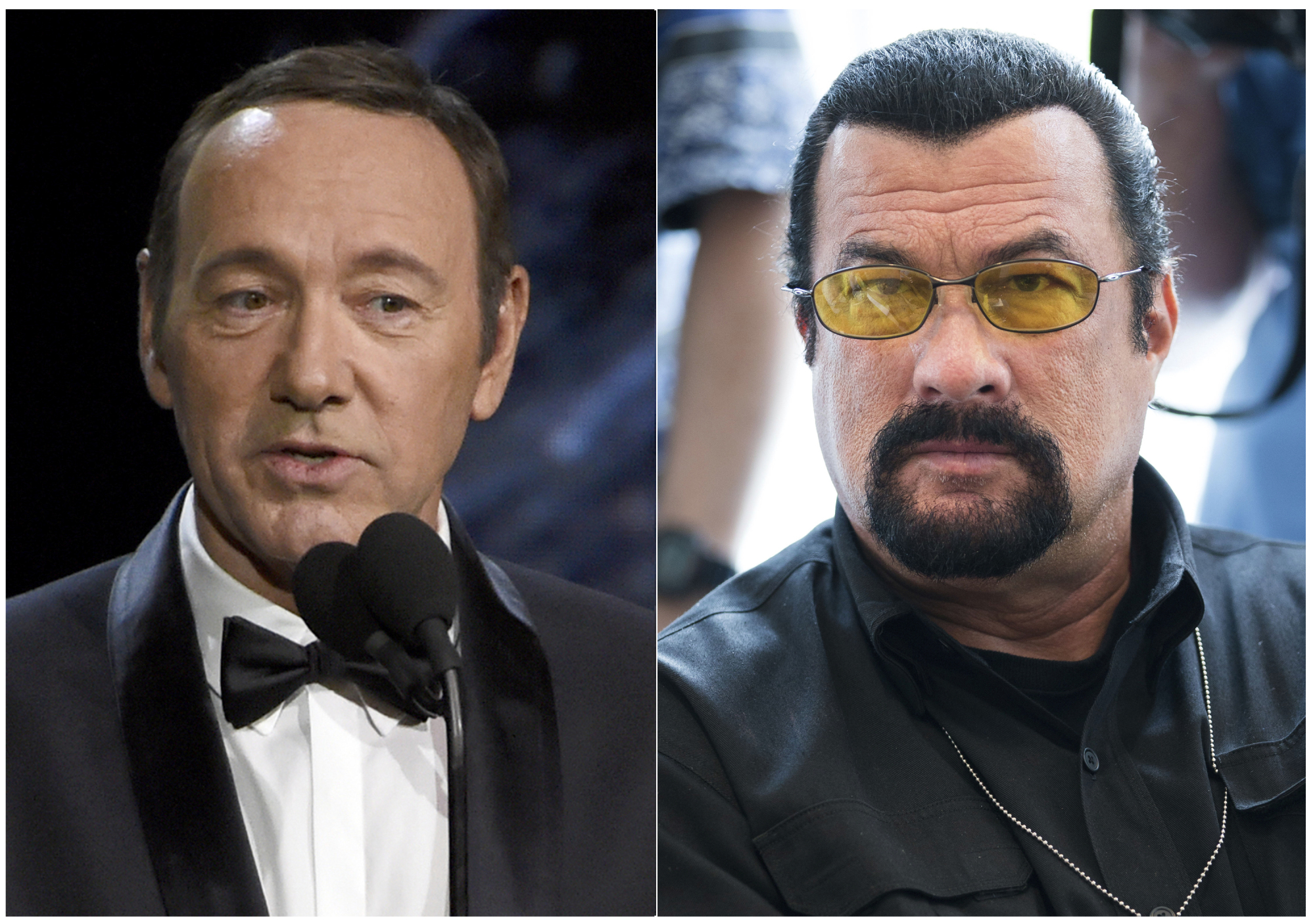 Kevin Spacey and Steven Seagal | AP