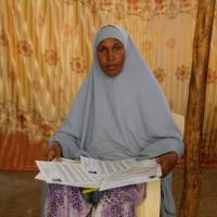 Aden Hassan's mother, Fatuma Diriye, talks about the family's difficulties in emigrating to the United States during an interview in the Kakuma refugee camp in Kenya on Aug. 13. | REUTERS