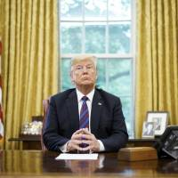 Trump sees mixing trade, foreign policy as good politics