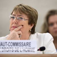 U.N.'s new rights chief Michelle Bachelet presses for new body on crimes against Myanmar Rohingya
