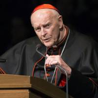 Cardinal Theodore McCarrick speaks during a memorial service in South Bend, Indiana, in 2015. A 2006 letter from Cardinal Leonardo Sandri, a top Vatican official, confirms that the Holy See received information in 2000 about the sexual misconduct of now-resigned U.S. Cardinal Theodore McCarrick, lending credibility to bombshell accusations of a cover-up at the highest echelons of the Catholic Church. | ROBERT FRANKLIN / SOUTH BEND TRIBUNE / VIA AP