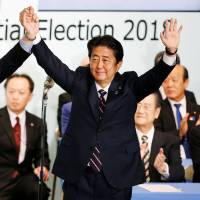 Constitutional revision, fraught with risk, tops agenda for Abe's next term