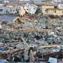 The town of Onagawa, Miyagi Prefecture, is seen on March 13, 2011, two days after a massive earthquake triggered tsunami.