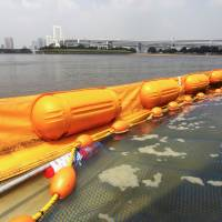Odaiba Plage features an underwater barrier that is designed to keep bacteria and stingrays out. | TIM HORNYAK