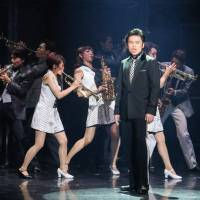 Can't take my eyes off you: Akinori Nakagawa plays Frankie Valli in the Japanese stage production of 'Jersey Boys.' The actor had to get special training for the role and is the only Japanese authorized to play the role.
