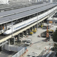 Off the rails: Construction has begun at Nagaya Station on the maglev train route. Four major Japanese contractors have been prosecuted for rigging bids for work on the project. | KYODO