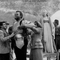 Blacked up and proud: Orson Welles has his armor adjusted before filming a scene from 'Othello' in Morocco in 1950. A new production of the Shakespeare play at Shinbashi Enbujo this month stars kabuki actor Nakamura Shikan in blackface as the titular 'Moor of  Venice.' | ASSOCIATED PRESS