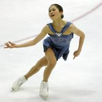 Four-time national champion Satoko Miyahara started her season with a comfortable victory at the U.S. International Classic on Saturday. | AP