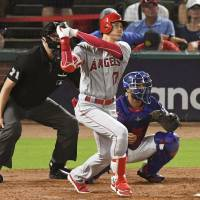Ohtani equals Matsui with latest home run