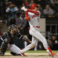 Shohei Ohtani connects on three-run triple during Angels' win over White Sox