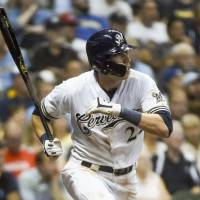 Brewers' Christian Yelich hits for historic cycle against Reds