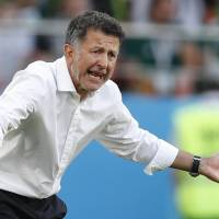 Mexico head coach Juan Carlos Osorio, seen coaching Mexico in a World Cup match in June, is the new Paraguay national team coach. | AP