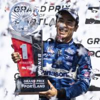 Takuma Sato holds off Ryan Hunter-Reay to win Portland Grand Prix