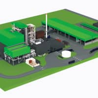 An artist's rendering of the planned East Rockingham Resource Recovery Facility.