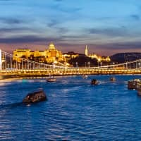 The grand Buda Castle and iconic Széchenyi Chain Bridge welcome travelers traversing the blue Danube in beautiful Budapest. | Photo by: Jaap van 't Ooster, Managing Director of Canon Hungaria