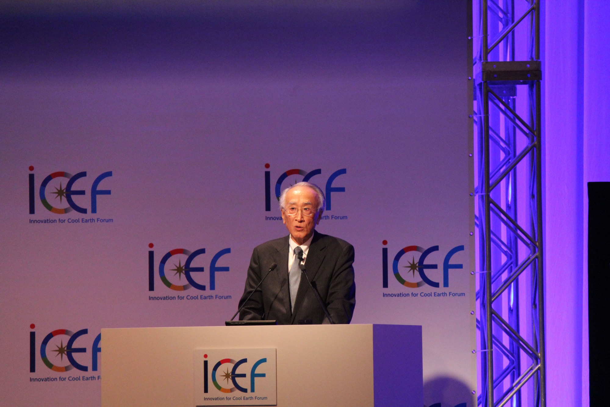 Nobuo Tanaka, chair of the Innovation for Cool Earth Forum Steering Committee | MASAAKI KAMEDA