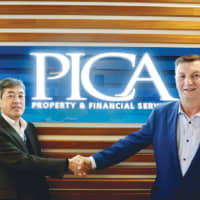 Yoichi Nishio, Executive General Manager of the Facilities Management Division, and Greg Nash, Managing Director and Group Chief Executive Officer of the PICA Group