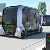 An artist's rendering of Toyota's vision of the self-driving e-Palette concept vehicle.    TOYOTA MOTOR CORP.