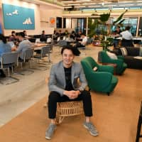 Masami Takahashi, general manager of WeWork in Japan, poses at the Iceberg, the firm's sixth co-working space in the country, in Shibuya Ward, Tokyo, on Sept. 26. | YOSHIAKI MIURA