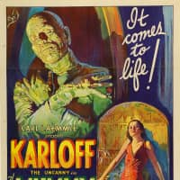 An original 1932 lithographic film poster designed by Karoly Grosz, for the movie 'The Mummy,' is seen in this handout photo provided by Sotheby's Thursday. | COURTESY SOTHEBY'S / HANDOUT / VIA REUTERS