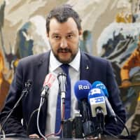 Italian Interior Minister Matteo Salvini talks at a news conference during his official visit in Tunis in September. | REUTERS