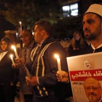 'Khashoggi's friends' hold vigil outside Saudi Consulate in Istanbul