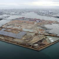 Some are questioning whether Yumeshima, a man-made island in Osaka Bay, is the best place to build a casino resort after Typhoon Jebi flooded nearby Kansai airport. | KYODO
