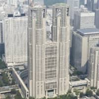 The Tokyo Metropolitan Government building also uses earthquake shock absorbers made by KYB Corp. | KYODO