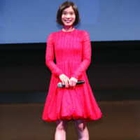 Ambassador role: Mayu Matsuoka speaks at the Tokyo International Film Festival lineup announcement last month. | © 2018 TIFF