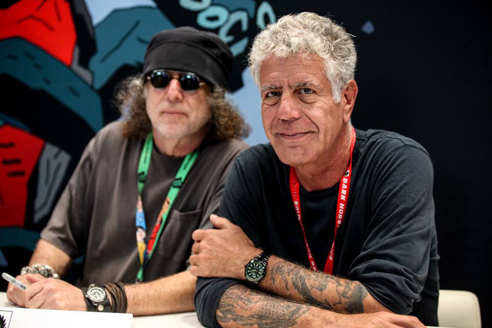 Co-authors, friends and frequent collaborators: Anthony Bourdain (right) with Joel Rose. | COURTESY OF DARK HORSE COMICS