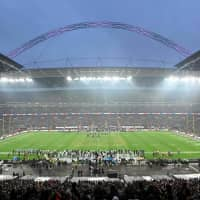 General overall view of Wembley Stadium before the Seattle Seahawks-Oakland Raiders game on Sunday. | KIRBY LEE / USA TODAY / VIA REUTERS