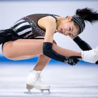 Yuhana Yokoi, seen in a file photo from March, placed third in a Junior Grand Prix event in Yerevan, Armenia, on Friday. | KYODO